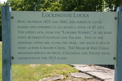 Lockington Locks Marker image. Click for full size.