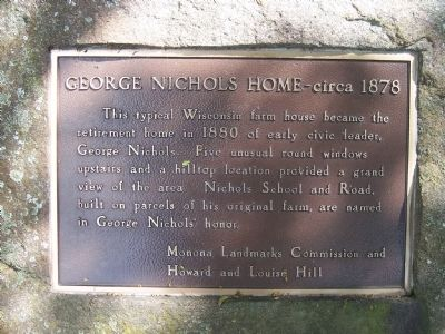 George Nichols Home Marker image. Click for full size.