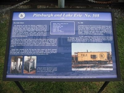 Pittsburgh and Lake Erie No. 508 Marker image. Click for full size.