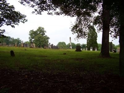 View from Marker into Cemetery image. Click for full size.