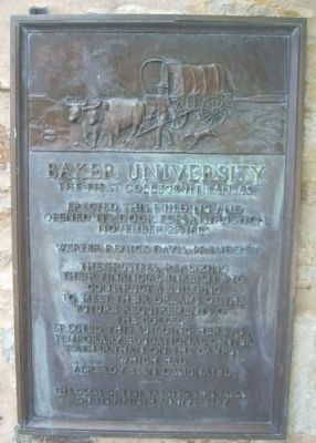 Baker University Marker image. Click for full size.