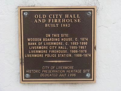 <i>Lower Marker:</i> Livermore Town Hall Jail and Firehouse image. Click for full size.