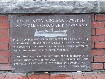 The Pioneer Nuclear Powered Passenger - Cargo Ship Savannah image. Click for full size.