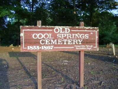 Old Cool Springs Cemetery image. Click for full size.