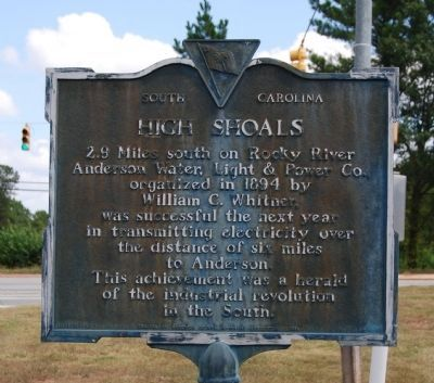 High Shoals Marker image. Click for full size.