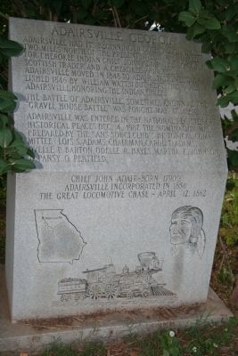 Adairsville, Georgia Marker image. Click for full size.