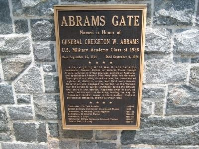 Abrams Gate Marker Photo, Click for full size