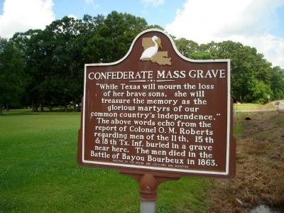 Confederate Mass Grave Marker image. Click for full size.