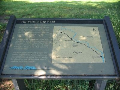 The Vestal's Gap Road Marker Photo, Click for full size