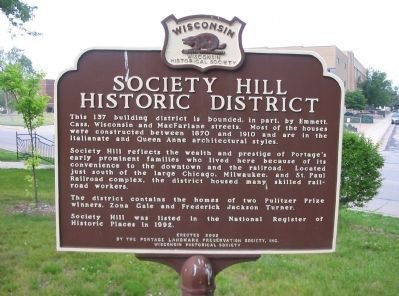 Society Hill Historic District Marker image. Click for full size.