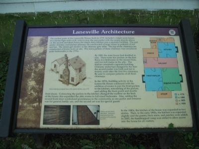 Lanesville Architecture Marker image. Click for full size.