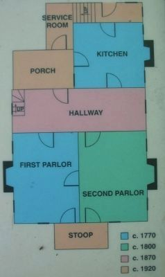 Diagram of the House Showing the Expansions image. Click for full size.