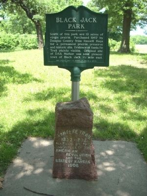 Black Jack Park Marker image. Click for full size.
