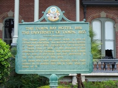 Tampa Bay Hotel, 1891 Marker image. Click for full size.