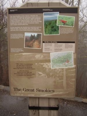 The Great Smokies Marker image. Click for full size.