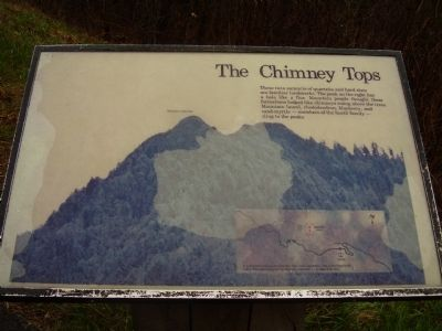 The Chimney Tops Marker image. Click for full size.