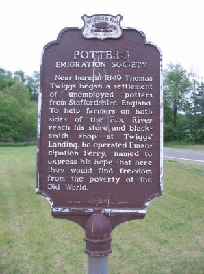Potters' Emigration Society Marker image. Click for full size.