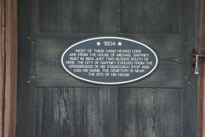 Plaque on Door image. Click for full size.