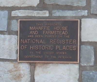 National Register Plaque Photo, Click for full size