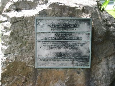 Delaware Canal - National Historic Landmark Plaque image. Click for full size.