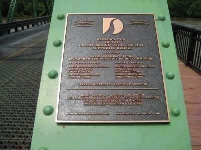Centre Bridge - Rededication Plaque image. Click for full size.