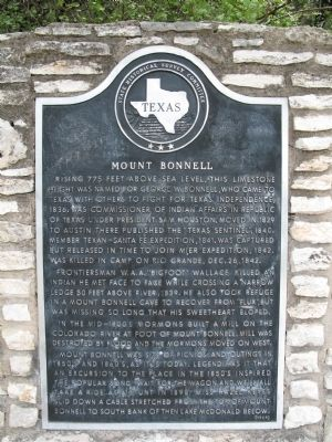 Mount Bonnell Marker Photo, Click for full size