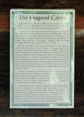 The Hagood Cabin Marker image. Click for full size.