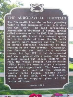 The Auroraville Fountain Marker image. Click for full size.