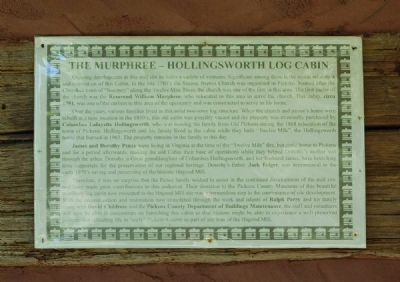 The Murphree-Hollingsworth Cabin Marker image. Click for full size.