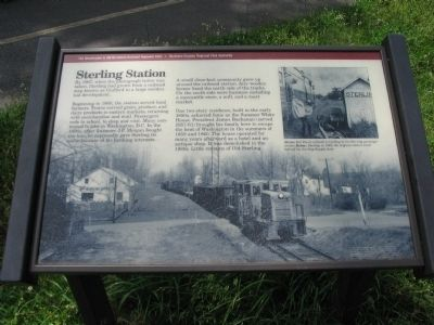 Sterling Station Marker Photo, Click for full size