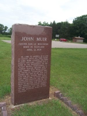 John Muir, Foster Son of Wisconsin Marker image. Click for full size.