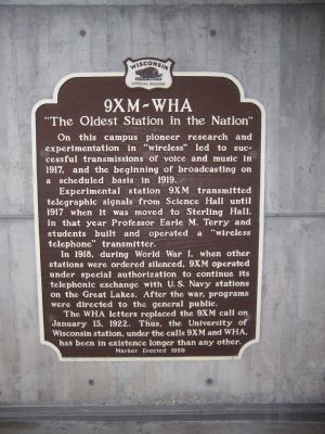 9XM - WHA Marker image. Click for full size.