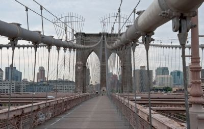 The Brooklyn Bridge Pedestrian Walkway Photo, Click for full size