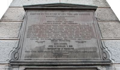 Brooklyn Bridge Plaque Photo, Click for full size