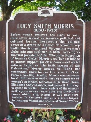Lucy Smith Morris Marker image. Click for full size.