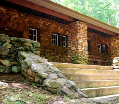 Paris Mountain State Park -<br>Park Center Porch and Steps image. Click for full size.