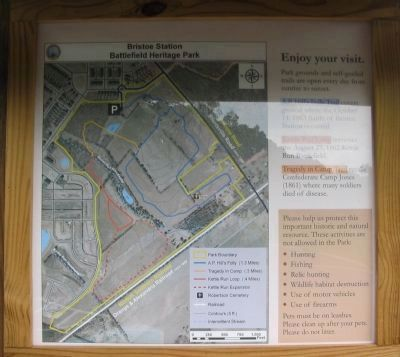 Park Map on the Back of the Kiosk image. Click for full size.