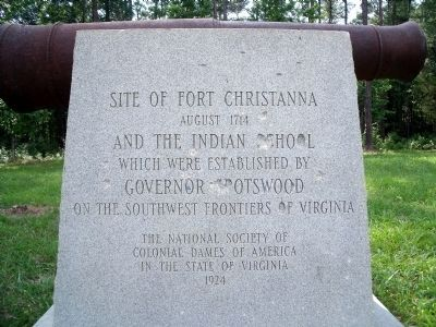 Site of Fort Christanna Monument image. Click for full size.