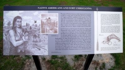 Native Americans and Fort Christanna Marker image. Click for full size.