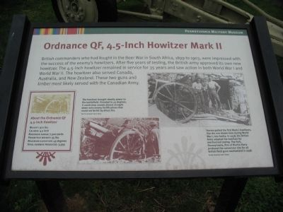 Ordnance QF, 4.5-inch Howitzer Mark II Marker image. Click for full size.