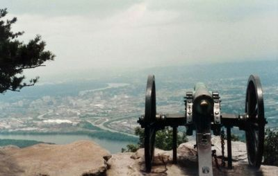 Occupation of the Summit of Lookout., view from 1984 image. Click for full size.