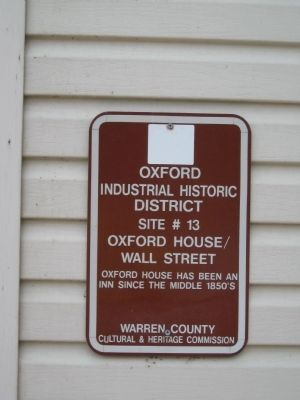 Oxford House / Wall Street Marker image. Click for full size.