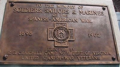 Soldiers, Sailors, and Marines of the Spanish American War Marker image. Click for full size.