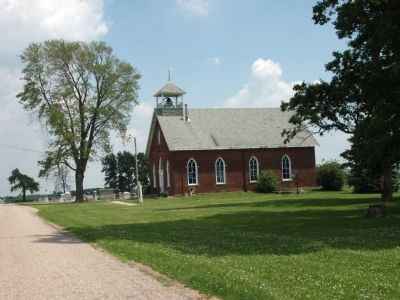 Long View - - Osborn Prairie Church - - Built 1892 image. Click for full size.