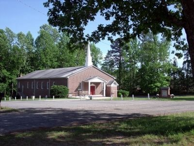 Present-day Mount Nebo Baptist Church across the road. image. Click for full size.