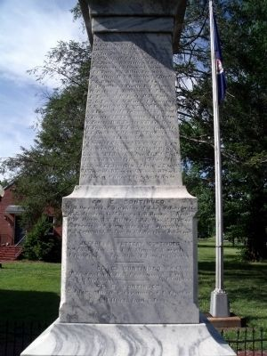 Confederate Monument (south face). image. Click for full size.