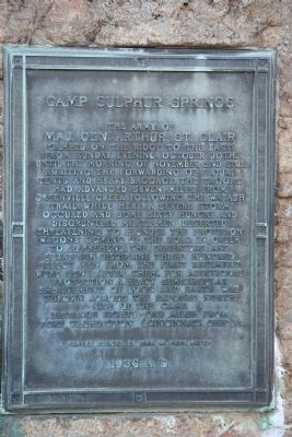 Camp Sulphur Springs Marker Photo, Click for full size