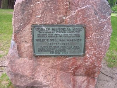 Warner Memorial Road Marker Photo, Click for full size