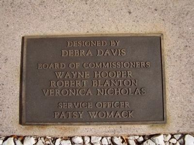 Plaque Indicating Key Persons Involved with the Memorial image. Click for full size.