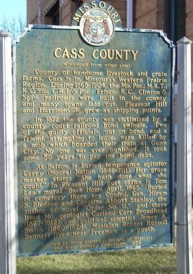 Cass County Marker Photo, Click for full size